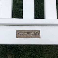 Weatherend Slatted Back Settee