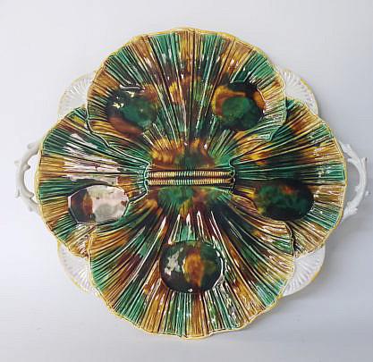 4795 Majolica Shell Platter A