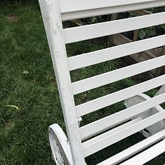 White Yacht Painted Finish Chaise Lounge