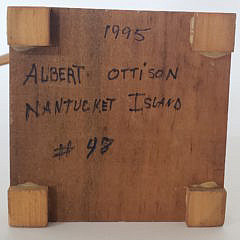 Albert Ottison Hand Carved and Painted Nantucket Whirligig, circa 1995
