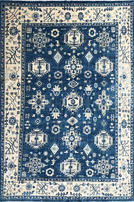 114-4700 Blue Peshawar Karajeh Carpet A_IMG_7853