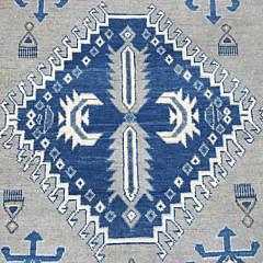 Hand Knotted Vintage Style Wool Kazak Oriental Carpet