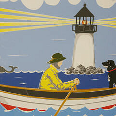 """Pair of Eric Holch Limited Edition Prints """"Going on the Whale"""" and """"Salty Dogs"""""""