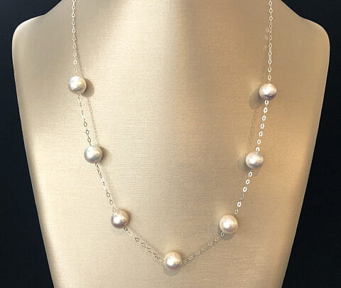 41276 Akoya Pearl Tin Cup Necklace A IMG_8324