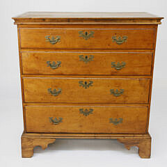 American Chippendale Cherry Four Drawer Chest, circa 1800