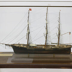 """Cased Model of the 1852 Clipper Ship """"Sovereign Of The Seas"""", 20th Century"""