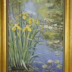 "Jan Pawlowski Oil on Canvas "" Bearded Irises"""